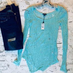 EXPRESS Light Blue Knit Tunic